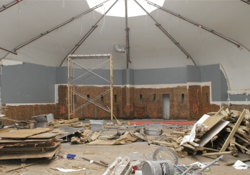 Inside of one of eight Orleans Parish Prison temporary housing units in the process of being torn down to make way for a new jail facility (Della Hasselle ... & Temporary jail tents at OPP being torn down inmates moved for ...