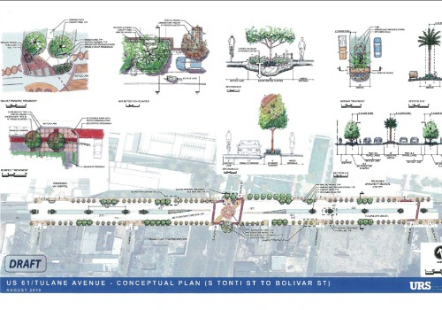 A vision for Tulane Avenue based on a 2011 report for the Regional Planning Commission (RPC).