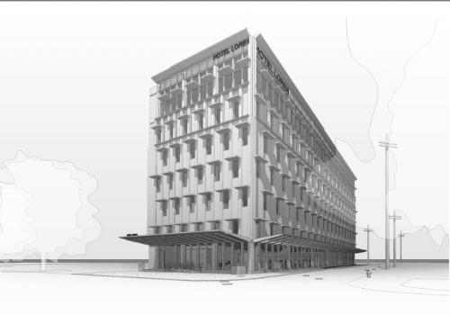 A new boutique hotel may come to Mid-City (Rendering by HMS Architects, provided by the City of New Orleans).