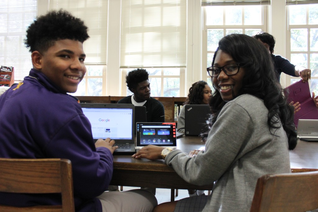 Warren Easton is one onf 20 schools selected to particpate in a mobile app development program. (photo by Alicia Serrano, MidCityMessenger.com)