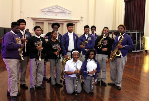 Warren Easton Jazz Band students will travel to Cuba in May for a cultural exchange. (photo by Alicia Serrano, MidCityMessenger.com)