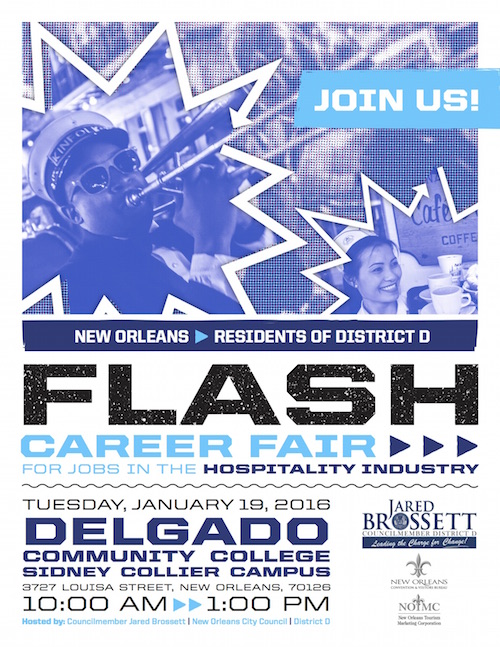 advertiser bulletin  flash career fair at the sidney collier campus of delgado  u2013 mid