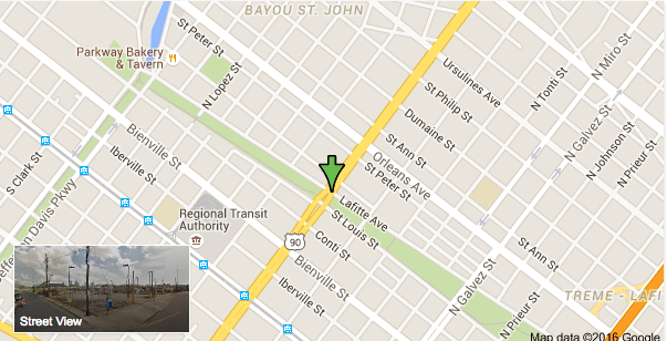 Police said a man was robbed at gunpoint May 16 at Lafitte Avenue and Broad Street. (Google Maps)