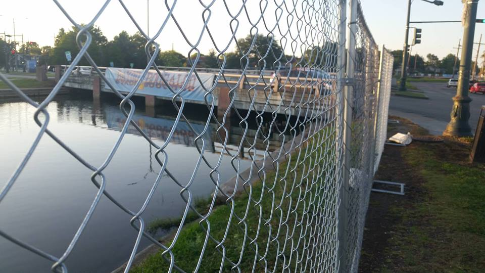 New fence erected in anticipation of Bayou Boogaloo angers neighbors
