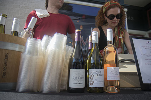 Swirl sold wine at the annual Bastille Day festival off of Esplanade avenue. (Zach Brien, MidCityMessenger.com)