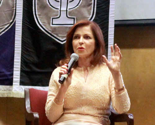 New York Times columnist Maureen Dowd speaks at Tulane University on Wednesday, Nov. 16. (Robert Morris, UptownMessenger.com)