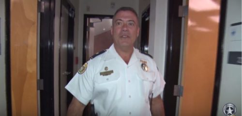 Third District Commander Gary Marchese walks through the Third District station (via Youtube)