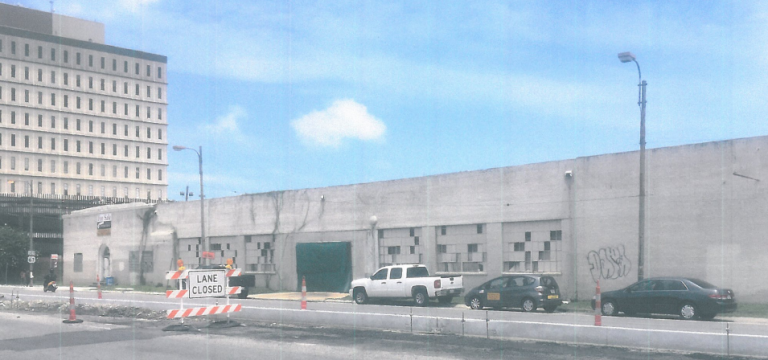 The abandoned warehouse on 2537 Tulane Avenue (NCDAC application).