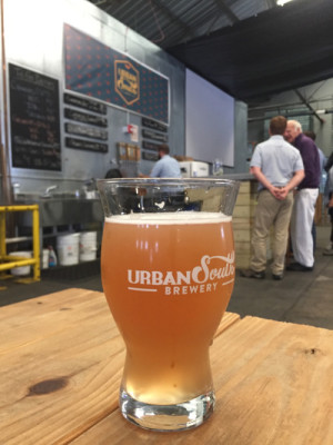 "The ""Delta Mama"" is Urban South's most popular brew. On Friday Nov. 11, Urban South Brewery celebrated the expansion of their brewery after being in business for just 7 months (Photo by Dannielle Garcia)."