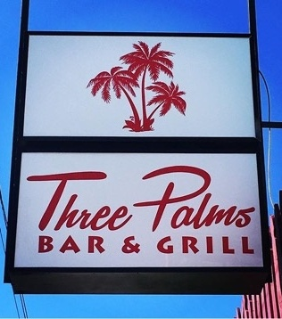 The Three Palms Bar & Grill is among the newest additions to Tulane Avenue. (photo by Stephanie Standige)