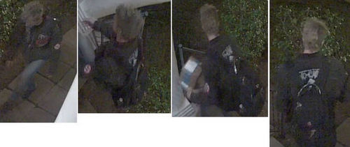 Suspect in Vendome Place package theft. (via NOPD)
