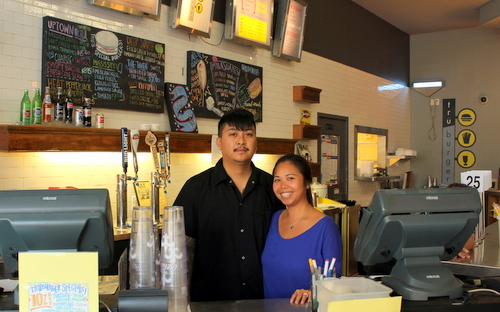 Lein Doan and her husband, Chef Hung Nguyen are part of the new management team at TruBurger on Oak Street. (Photo by Danielle Carbonari)