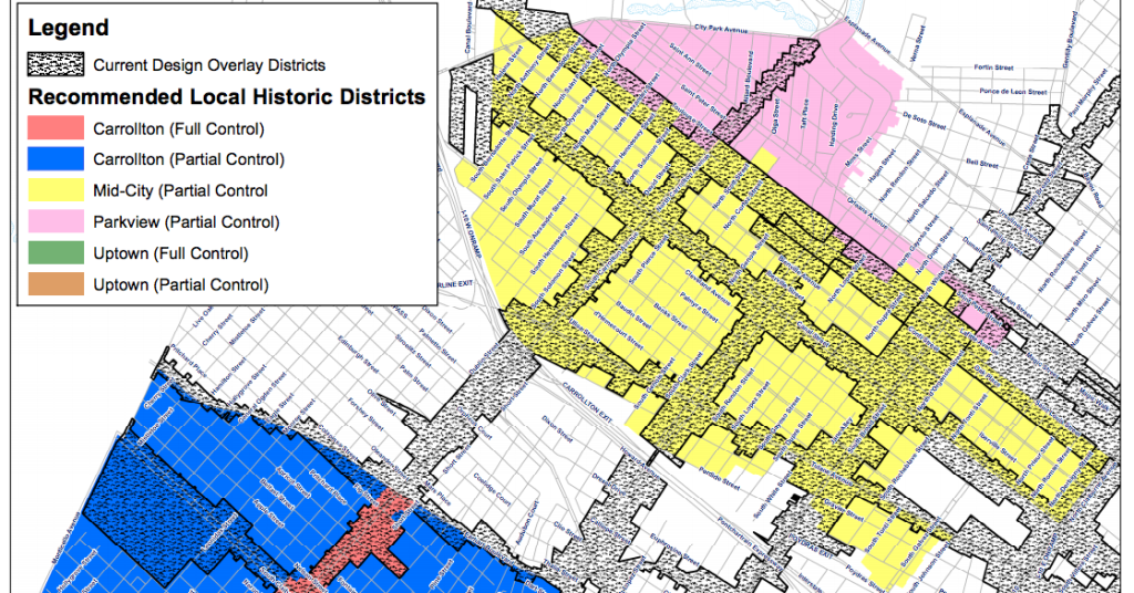 New Orleans City Study Committee's suggested boundaries for the new Mid-City Local Historic District.
